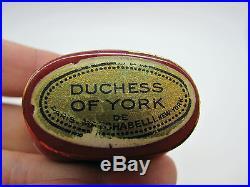 Vintage Duchess of York Prince Matchabelli Perfume Bottle Red Crown