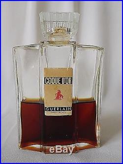 Vintage GUERLAIN COQUE D'OR 2.77 oz Perfume War Time Edition Bottle c1938-1945
