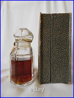 Vintage GUERLAIN RUE DE LA PAIX 80 ml / 2.7 oz Perfume Baccarat Bottle, Unopened
