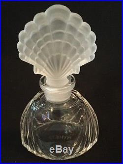 Vintage Gorham Clear Vanity Perfume Bottle Crystal Shell