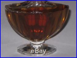 Vintage Guerlain Baccarat Style Shalimar Perfume Bottle 1 OZ 30 ML Open 3/4 Full