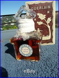 Vintage Guerlain L'Heure Bleue Baccarat Perfume Bottle, 125ml 4.2 oz sealed