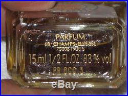 Vintage Guerlain Mitsouko Perfume Bottle 1/2 OZ 15 ML Sealed Full