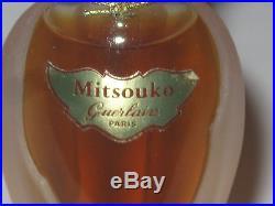 Vintage Guerlain Mitsouko Perfume Bottle Rosebud/Amphora 1/2 OZ Sealed/Full