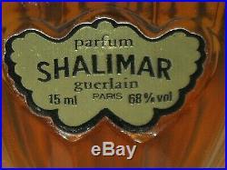 Vintage Guerlain Shalimar Perfume Bottle 1/2 OZ Unused Full Circa 1983