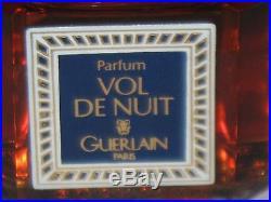 Vintage Guerlain Vol De Nuit Perfume Bottle & Box 1/2 OZ, 15 ML, Sealed/Full