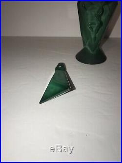 Vintage Ingrid Curt Schlevogt Art Deco Malachite Perfume Bottle Green Lady