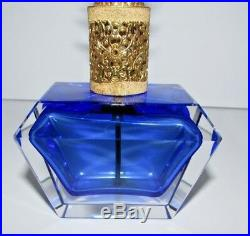 Vintage Irice Sommerso Art Glass Perfume Bottle with Rhinestones 347