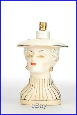 Vintage Ivory Colored Ceramic Perfume Atomizer Bottle (by IRICE)