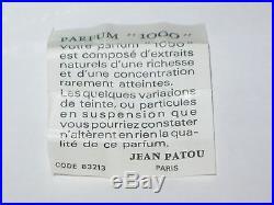 Vintage Jean Patou 1000 Green Perfume Bottle & Box 1/4 OZ Sealed 3/4 Full