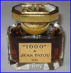 Vintage Jean Patou 1000 Perfume Bottle 1 OZ Baccarat Sealed/Full New in Boxes