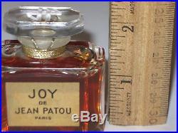 Vintage Jean Patou Joy Perfume Baccarat Bottle 1 OZ Sealed 3/4+ Full 2 1/4 Ht