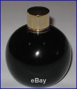 Vintage Jeanne Lanvin Baccarat Perfume Bottle Glass Internal Stopper Gold Top 3