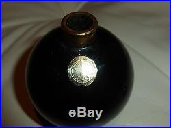 Vintage Jeanne Lanvin Perfume Bottle Arpege Black Glass Stopper 3 OZ Empty