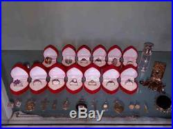 Vintage Job Lot Silver rings, pendants, brooches, perfume bottle etc