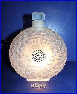 Vintage Lalique Extra Large Dahlia Perfume Bottle