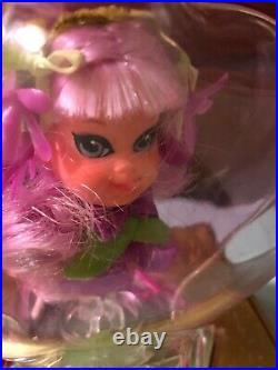 Vintage Liddle Kiddle Violet Kologne Perfume Bottle Little Doll Flower Mattel