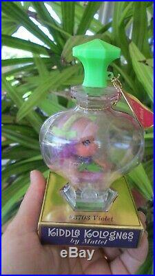 Vintage Liddle Kiddles Kologne Violet Doll With Little Tag Cologne Perfume Bottle