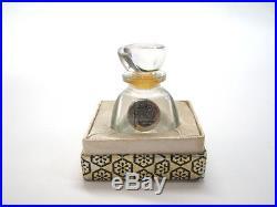 Vintage Miniature Perfume France Glass Bottle Favori Chabrawichi Egypt Arabic