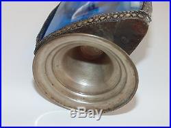 Vintage Morocco Moroccan Blue Cobalt Glass Rose Water Perfume Bottle Home Decor