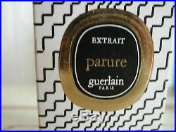Vintage New Very Rare Guerlain Parure 7 ML Perfume Bottle Mib Parfum