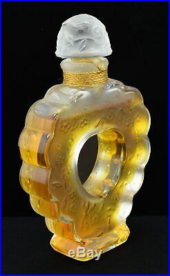 Vintage Nina Ricci Coeur Joie Flacon Lalique Crystal. 5 oz Perfume Bottle Sealed