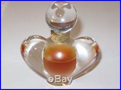 Vintage Nina Ricci Farouche Lalique Crystal Perfume Bottle Heart 1 OZ 2/3 Full