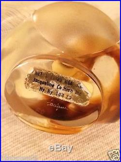 Vintage Nina Ricci Farouche Lalique Heart Shape Crystal Perfume Bottle France