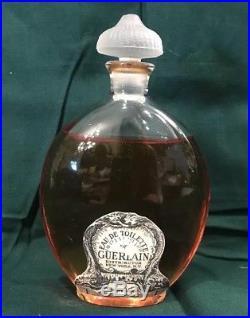 Vintage Old Guerlain lHeure Blue Eau De Toilette Bottle withPerfume