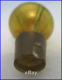 Vintage Original Tiffany Studios Favrile Art Glass Perfume Bottle Stopper