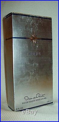 Vintage Oscar de la Renta Pour Lui 8 OZ -240 ML EDT BIG BOTTLE Men's Cologne NIB