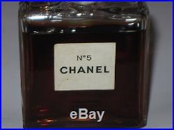 Vintage Perfume Bottle Chanel No 5 Bottle 1 OZ Post 1951 Open 3/4+ Full 3