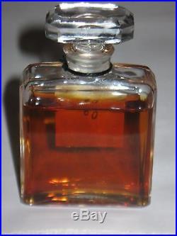 Vintage Perfume Bottle Chanel No 5 Bottle 1 OZ Post 1970 Open 3/4 Full 3