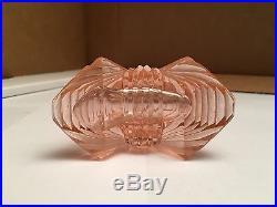 Vintage Pink Pyramid Designed Czechoslovakian Perfume Bottle