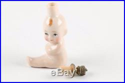Vintage Porcelain Perfume Bottle Baby Princess Crown Top Germany