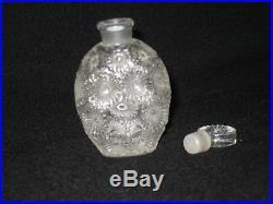 Vintage R LALIQUE France perfume bottle and stopper OLD perfume bottle 1930s