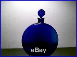 Vintage R Rene Lalique Large Worth Cologne Perfume Bottle 7 1/2 Signed