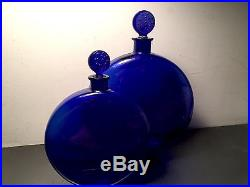 Vintage R Rene Lalique Large Worth Cologne Perfume Bottle 9 1/2 Signed