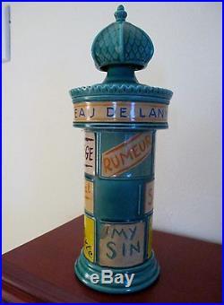 Vintage RARE LANVIN PARFUM PERFUME Figural Labels display bottle FRANCE 1949