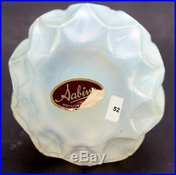 Vintage Sabino Paris France Round Opalescent Petalia Perfume Bottle Art Glass