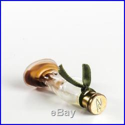 Vintage Schiaparelli Zut Miniature Perfume Bottle Mini Metal Cap Ribbon Sticker