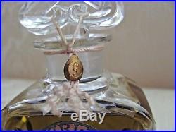 Vintage Sealed GUERLAIN Perfume MITSOUKO 3 oz. BACCARAT Signed Bottle MUST SEE