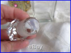 Vintage Signed Empire Art Gold Jeweled Filigree Holder Glass Perfume Bottle