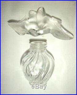 Vintage Signed Lalique Glass Nina Ricci Scent/Perfume Bottle (glass stopper)