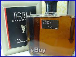 Vintage TABU 1 Litre 33.8 Oz HUGE DISPLAY BOTTLE in Box by Dana Perfumes Full