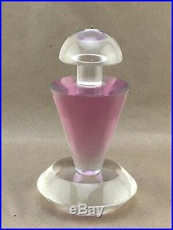 Vintage Van Teal Lucite Acrylic Perfume Bottle Sculpture Pink & Clear 7.5