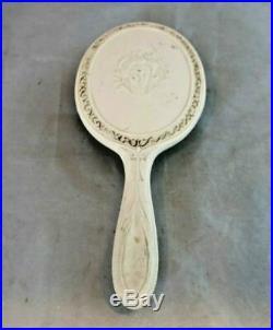 Vintage Vanity Set Mirror Tray Trinket Box Perfume Bottle