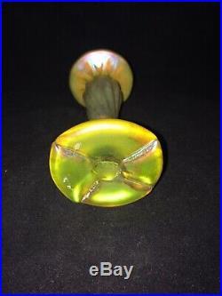 Vintage Vaseline Uranium Favrile Aurene Glass Perfume Bottle