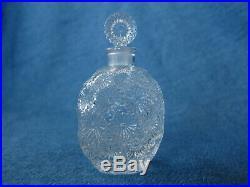 Vintage WORTH Lalique OEILLET Perfume bottle 1/2 oz Signed