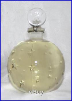 Vintage Worth Lalique Star Perfume Bottle JE Reviens 5 1/2 OZ Sealed